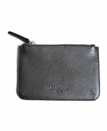 Goodwood Italian Leather A6 Coin Purse in Grey