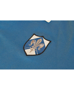 Goodwood Members Meeting Cotton Mens Aubigny Fleur De Lis House Blue Rugby Shirt Badge