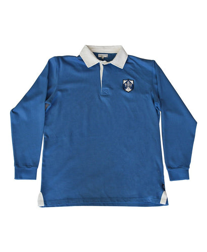Goodwood Members Meeting Cotton Mens Aubigny Fleur De Lis House Blue Rugby Shirt