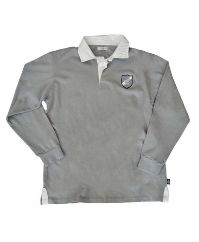 Goodwood Members Meeting Cotton Mens Darnley Bull House Grey Rugby Shirt