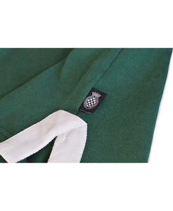 Goodwood Members Meeting Cotton Mens Methuen Lion House Green Rugby Shirt Detail