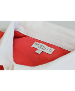 Goodwood Members Meeting Cotton Mens Torbolton Harp House Red Rugby Shirt Collar