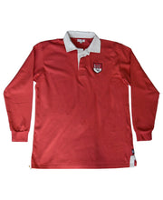 Load image into Gallery viewer, Goodwood Members Meeting Cotton Mens Torbolton Harp House Red Rugby Shirt