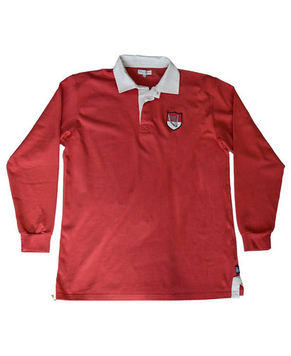 Goodwood Members Meeting Cotton Mens Torbolton Harp House Red Rugby Shirt