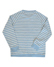 Load image into Gallery viewer, Goodwood Members Meeting Cotton Womens Striped Blue White Sweatshirt Back