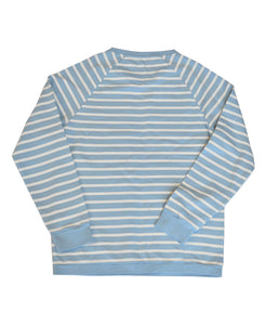 Goodwood Members Meeting Cotton Womens Striped Blue White Sweatshirt Back