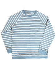 Load image into Gallery viewer, Goodwood Members Meeting Cotton Womens Striped Blue White Sweatshirt