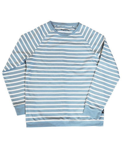 Goodwood Members Meeting Cotton Womens Striped Blue White Sweatshirt