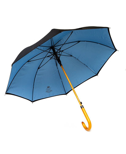 Goodwood Members Meeting Wooden Handled Blue Black Umbrella