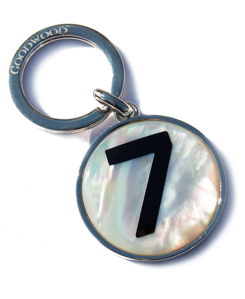 Goodwood Mother Of Pearl Stirling Moss Number 7 Keyring