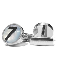 Goodwood Mother Pearl Stirling Moss Number 7 Cufflinks