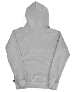 Goodwood Motor Circuit Cotton Grey Melange Unisex Hoody Back