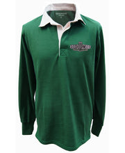 Load image into Gallery viewer, Goodwood Motor Circuit Cotton Mens British Racing Green Rugby Shirt