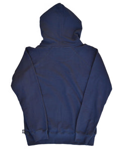 Goodwood Motor Circuit Cotton Navy Unisex Hoody Back