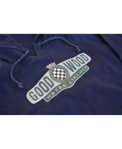 Goodwood Motor Circuit Cotton Navy Unisex Hoody Logo