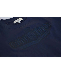 Goodwood Motor Circuit Cotton Navy Unisex Sweatshirt Detail