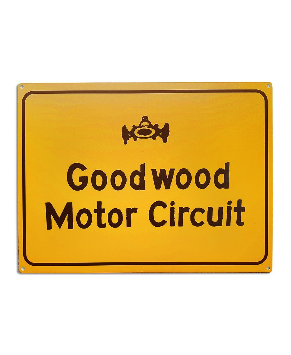 Goodwood Motor Circuit Yellow Tin Sign