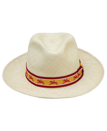 Goodwood Racecourse Lennox Red Yellow Horses Panama Hat