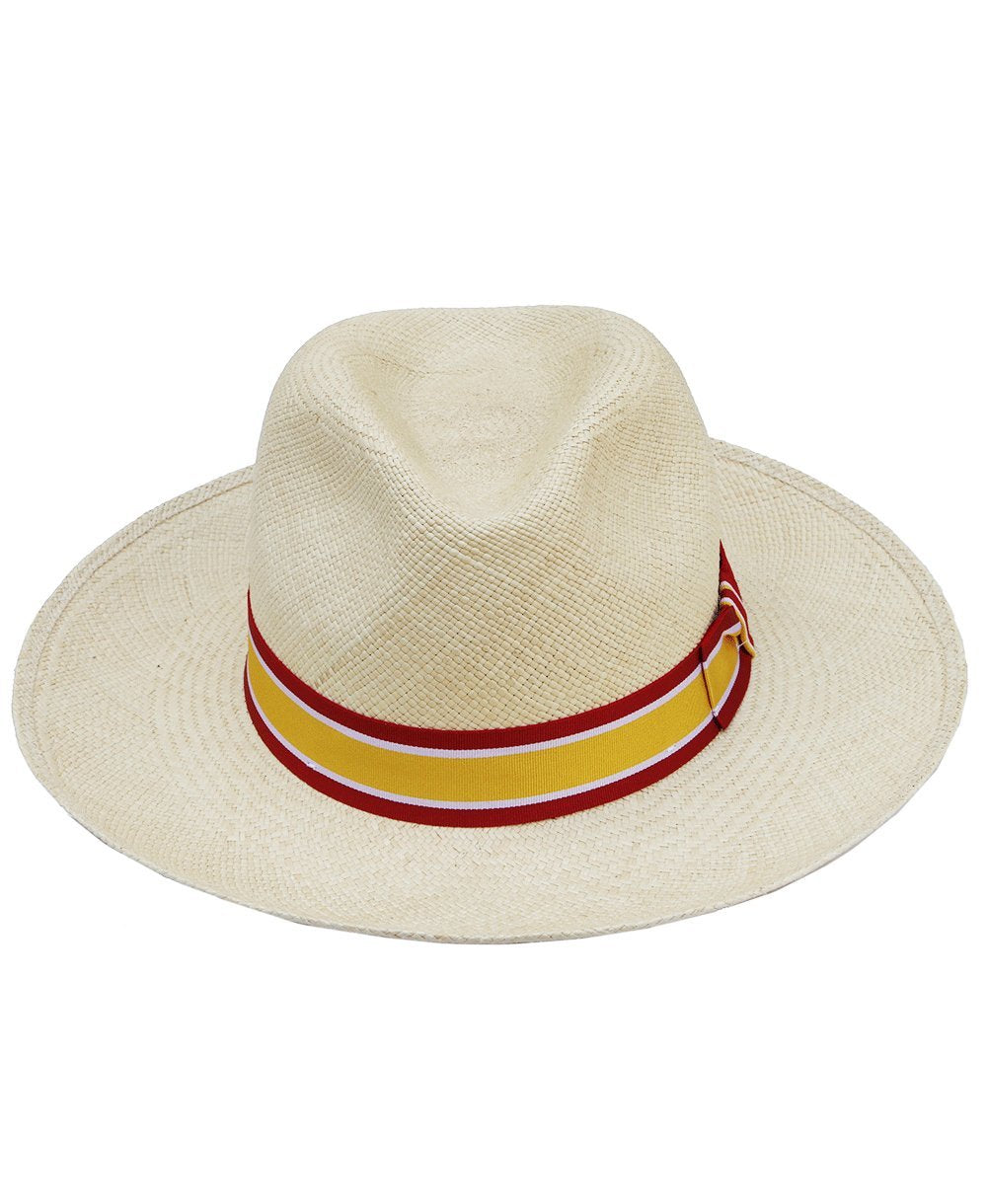 Goodwood Racecourse Lennox Red Yellow Striped Panama Hat