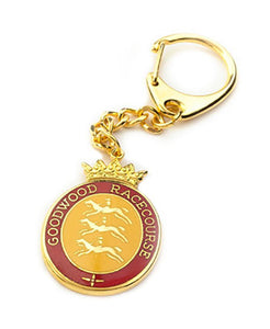 Goodwood Racecourse Stubbs Horses Key Chain