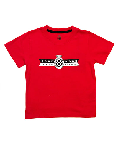 Festival of Speed Racing Colours T-Shirt Red and Black Children's