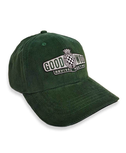Goodwood Revival Corduroy British Racing Green Baseball Cap