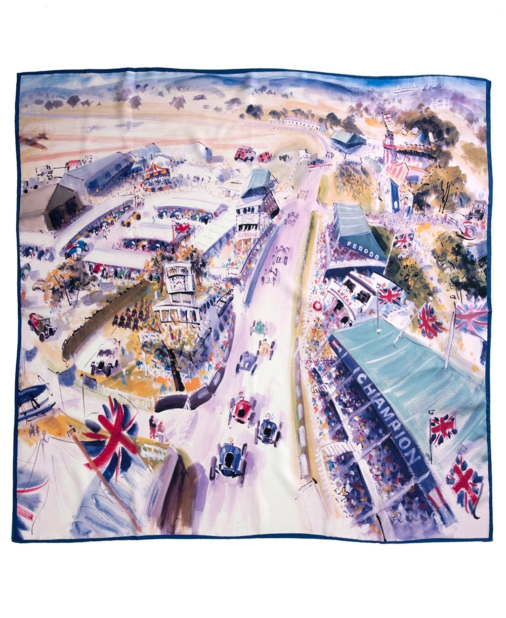 Goodwood Revival Silk A Magical Step Back In Time Scarf