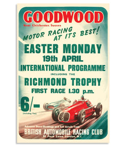 Goodwood Revival Vintage Reproduction Easter Monday Poster