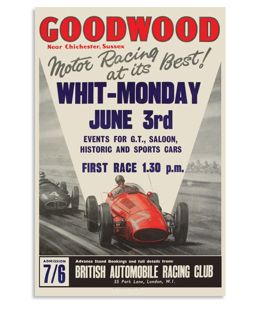 Goodwood Revival Vintage Reproduction Whit Monday Poster