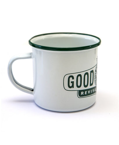 Goodwood Revival White Green Tin Mug