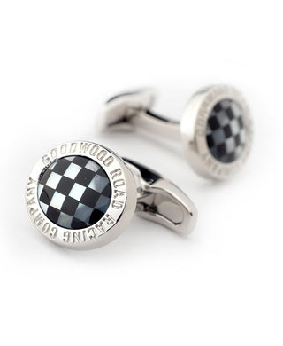 Goodwood Road Racing Onyx Mother Pearl Cufflinks