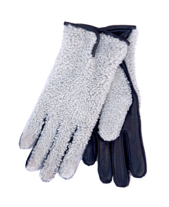 Nappa Leather Ladies Gloves with Sherling Top