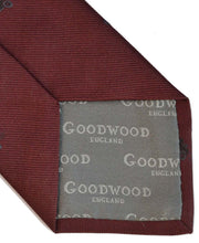 Load image into Gallery viewer, Goodwood Silk Cartoon Burgundy Black Car Tie Detail