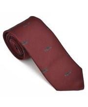 Load image into Gallery viewer, Goodwood Silk Cartoon Burgundy Black Car Tie