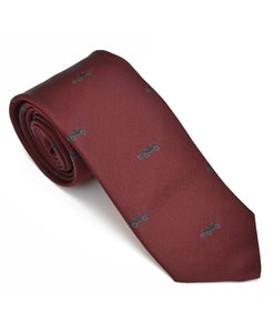 Goodwood Silk Cartoon Burgundy Black Car Tie