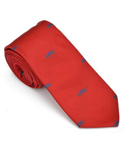 Load image into Gallery viewer, Goodwood Silk Cartoon Red Blue Car Tie