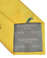 Load image into Gallery viewer, Goodwood Silk Cartoon Yellow Green Car Tie Detail