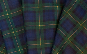 Goodwood Silk Freddie March Gordon Tartan Drivers Scarf Detail