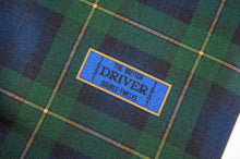 Load image into Gallery viewer, Goodwood Silk Freddie March Gordon Tartan Drivers Scarf Label