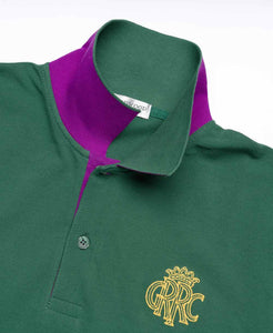 GRRC Members Green Cotton Mens Polo Shirt
