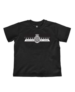 Kids Black Cotton Festival of Speed T-Shirt