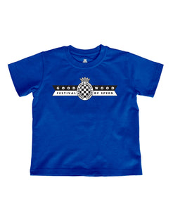 Kids Bright Blue Cotton Festival of Speed T-Shirt