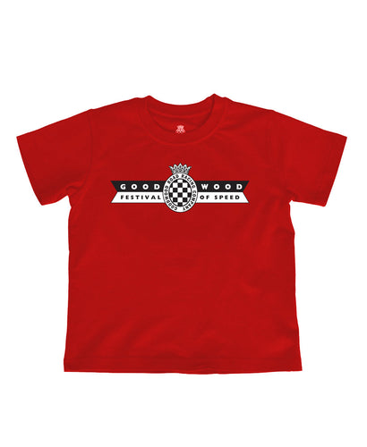 Kids Red Cotton Festival of Speed T-Shirt