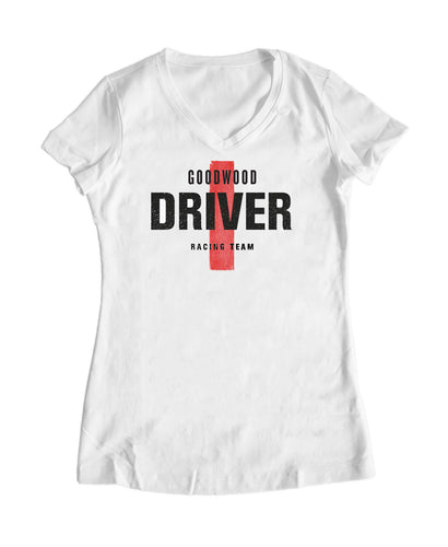 Ladies White Cotton Driver T-Shirt