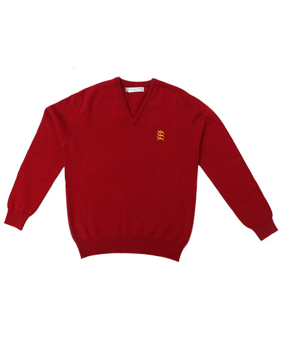 100% Lambswool Stubbs Horses Mens Red Sweatshirt