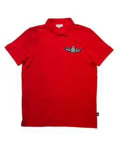 SpeedWeek Red Cotton Polo Shirt