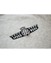 Load image into Gallery viewer, SpeedWeek Sweatshirt in Melange Grey Detail