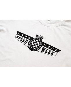 SpeedWeek White T-Shirt Mens Detail