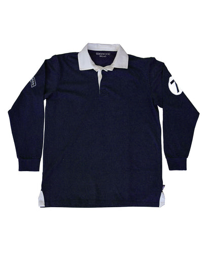Stirling Moss Lucky 7 Navy Cotton Mens Rugby Shirt