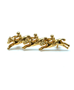 Gold Plated Galloping Horse Brooch